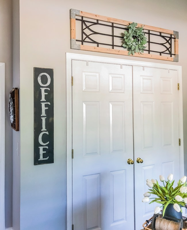 DIY painted Office sign-6