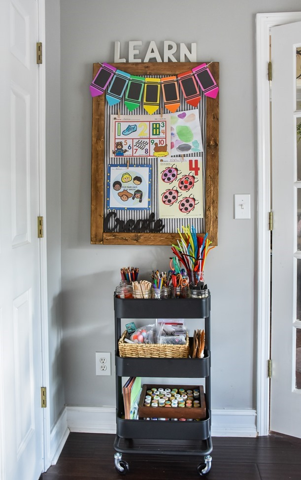 Home Office- Craft Room- Homeschool Room makeover-12