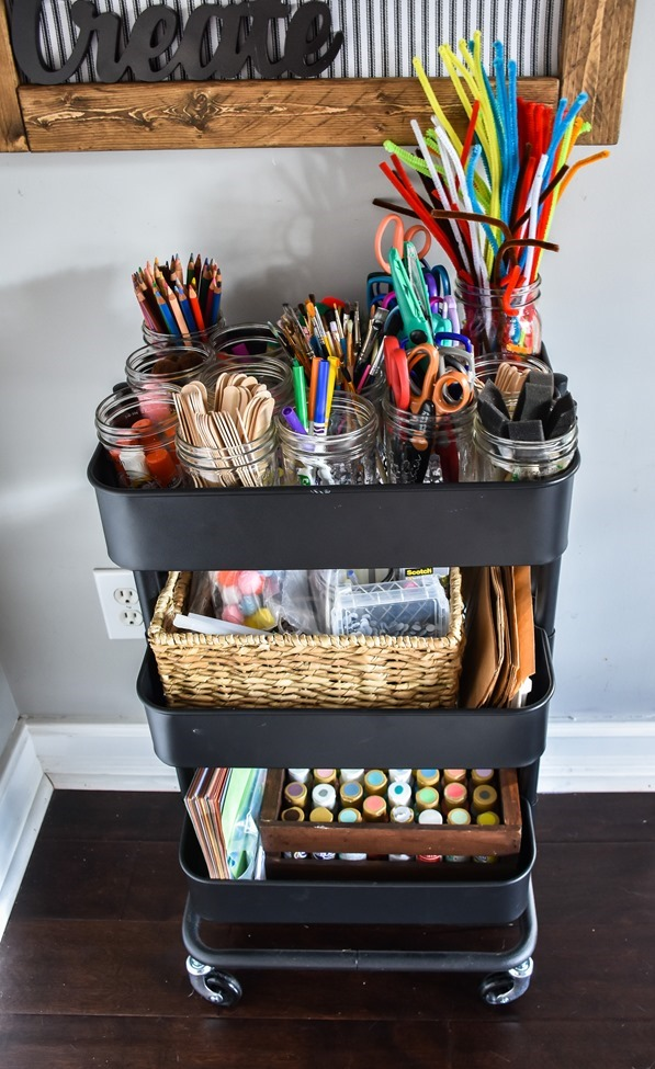 Home Office- Craft Room- Homeschool Room makeover-13
