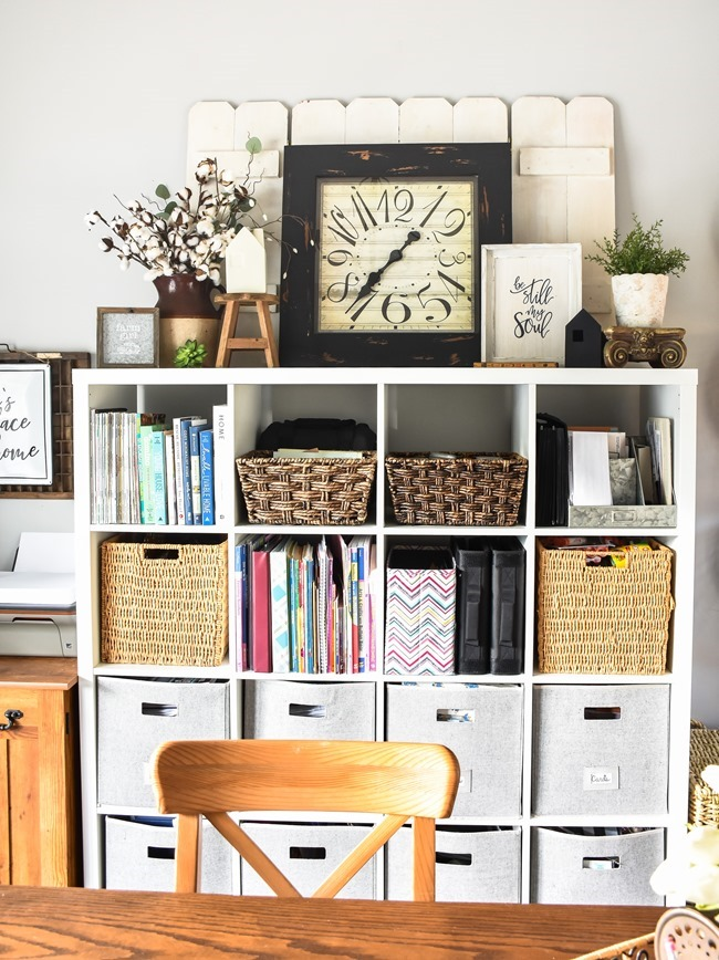 Home Office- Craft Room- Homeschool Room makeover-21