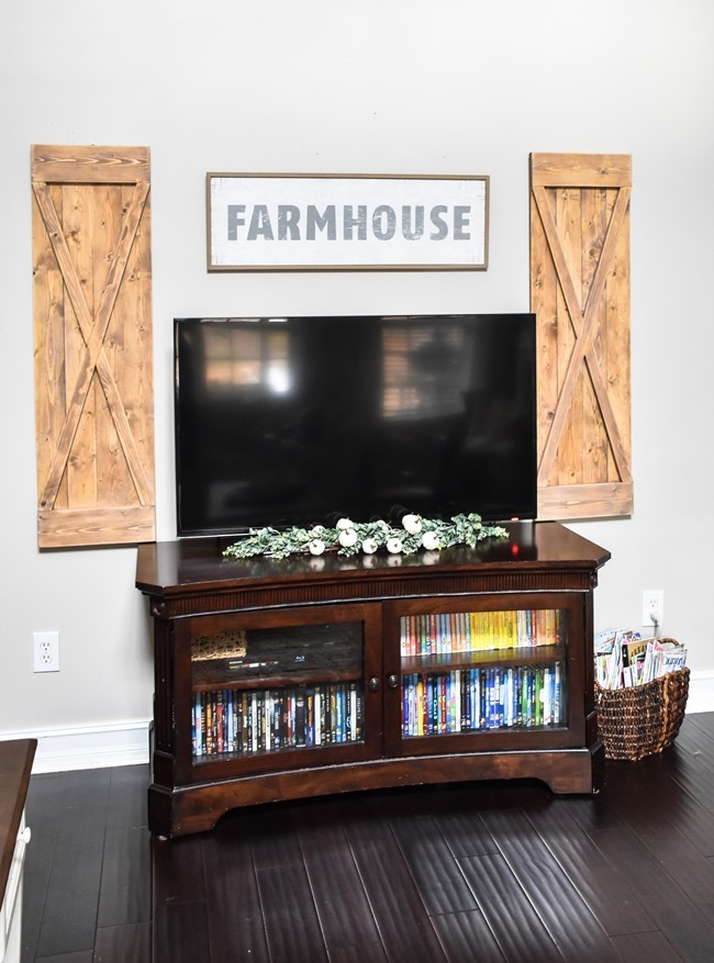 DIY Farmhouse style decorative shutters-8