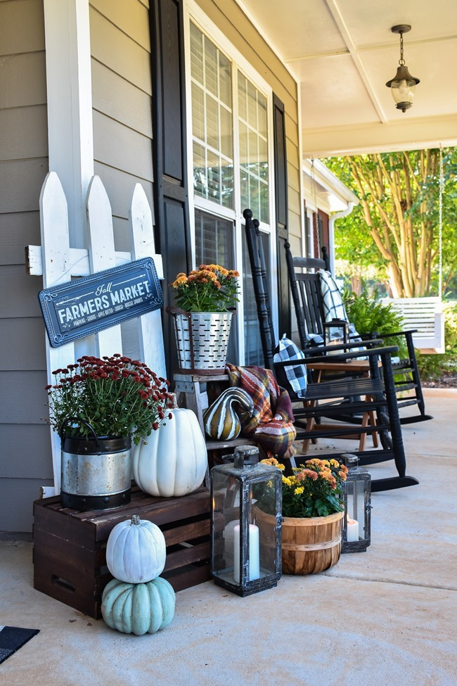 Farmhouse Fall Farmer's Market Front Porch-8