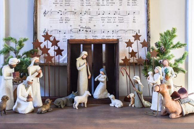 DIY Christmas Music Framed Art-10