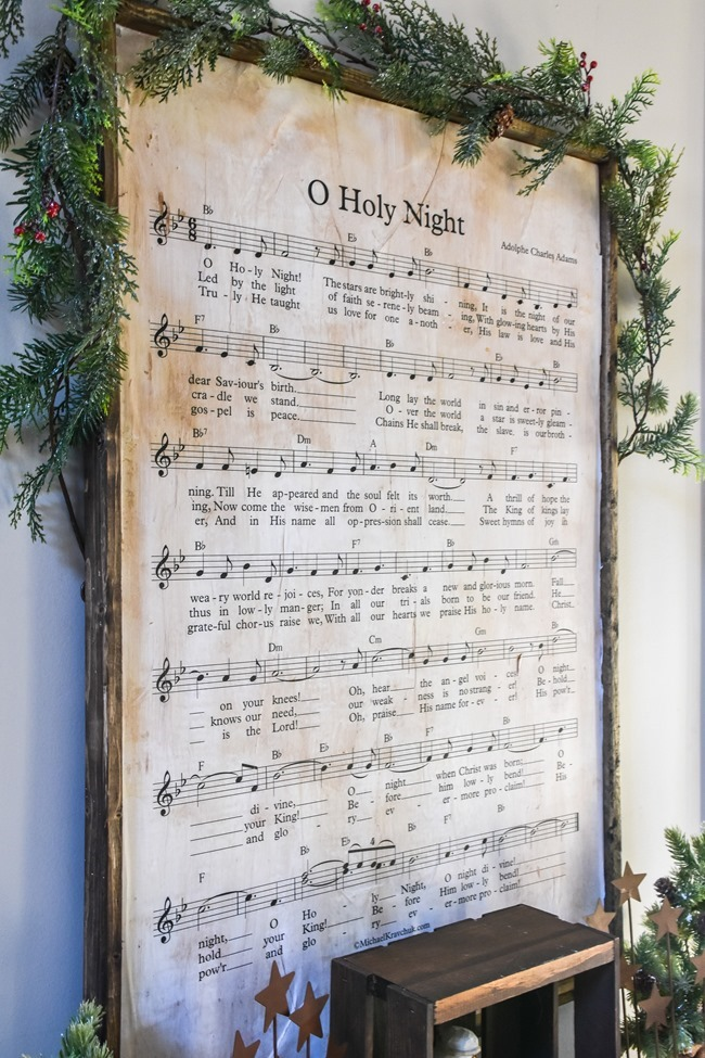 DIY Christmas Music Framed Art-11