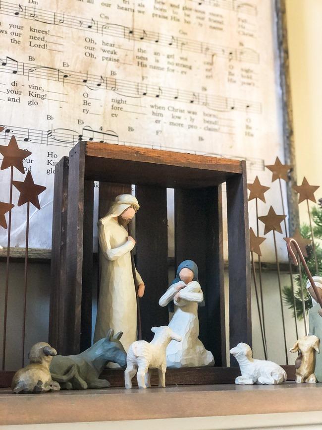 DIY Christmas Music Framed Art-14