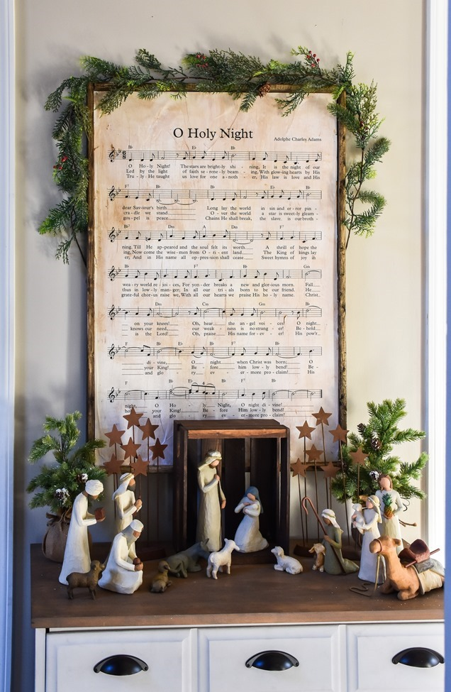 DIY Christmas Music Framed Art-7