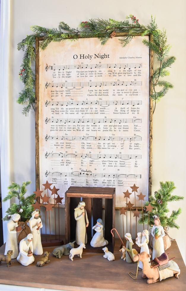 DIY Christmas Music Framed Art-8