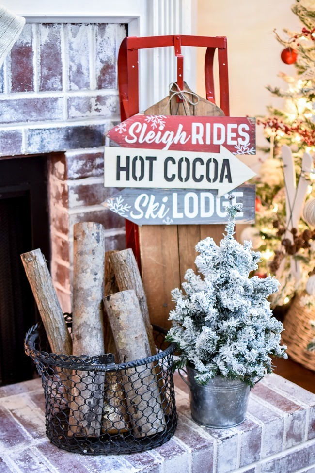 Ski Lodge Inspired Christmas Farmhouse Mantel-21