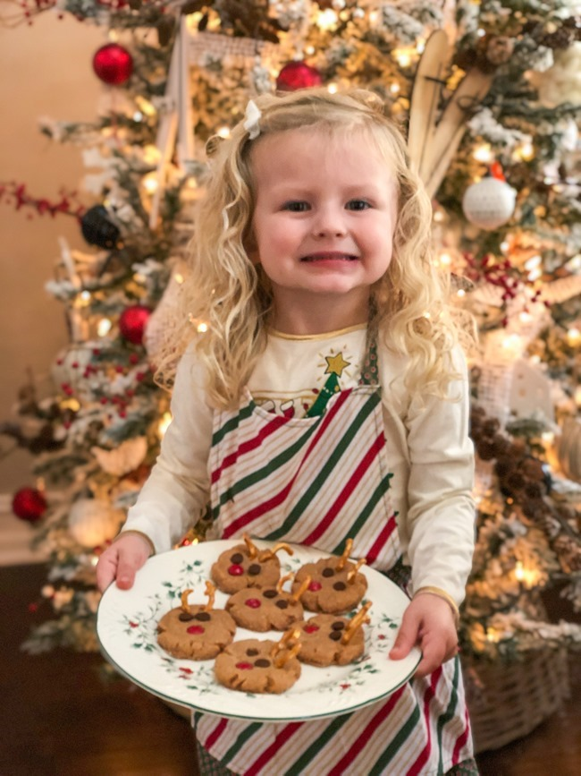 Peanut Butter Rudolph Cookies easy for kids to make-13