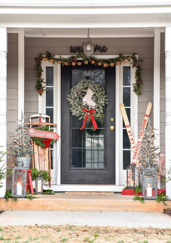 Ski Lodge Inspired Farmhouse Christmas Front Porch-17[3]