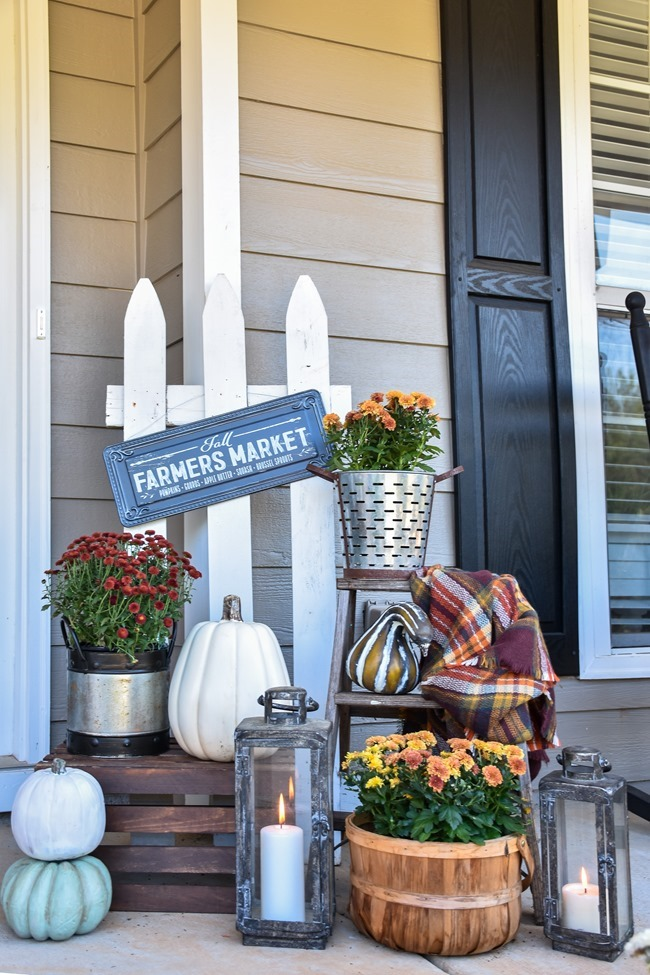 Farmhouse Fall Farmer's Market Front Porch-14