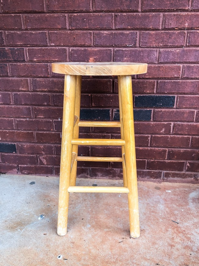 DIY plant stand from upcycled bar stool-10