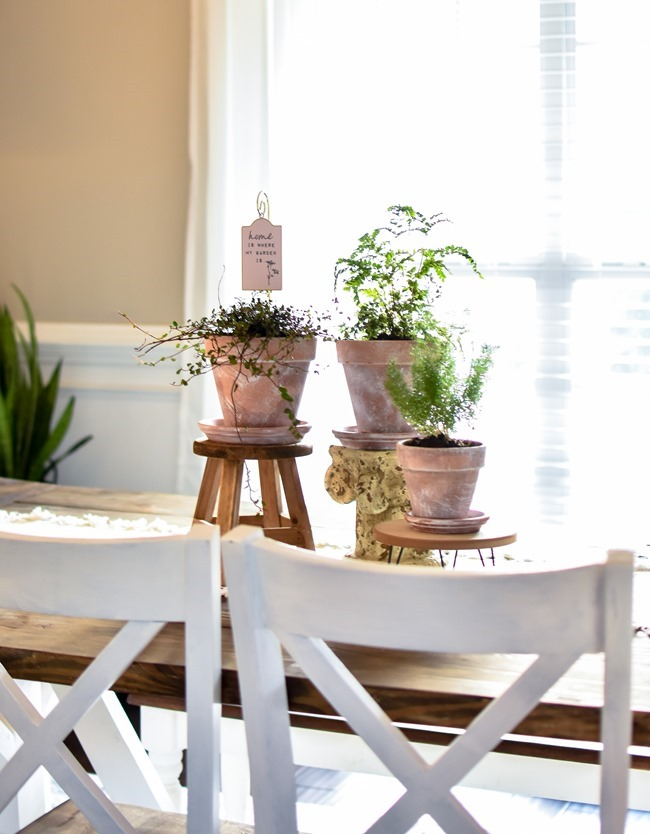 How to age Terra Cotta pots plus a simple spring centerpiece-2