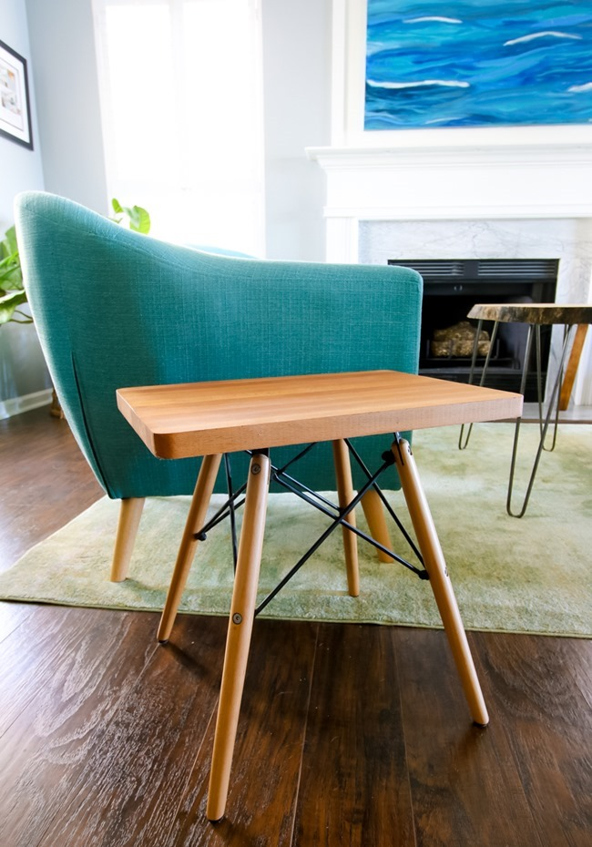 side table from chair legs
