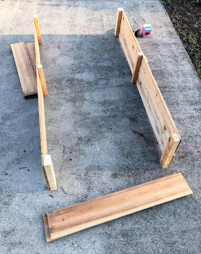 DIY Raised Garden Beds made with cedar fence pickets-2