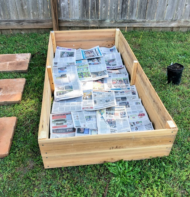 DIY Raised Garden Beds made with cedar fence pickets-5