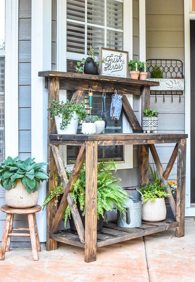 DIY Farmhouse Potting Bench-15