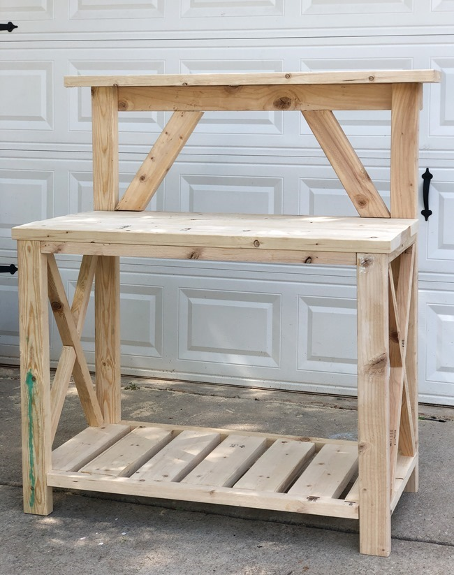 DIY Farmhouse Potting Bench-19