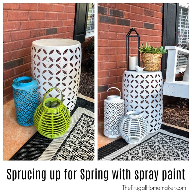 Sprucing up for Spring with spray paint