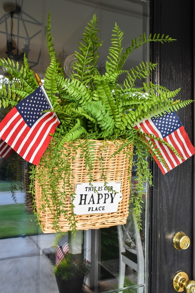 Summer Patriotic Front Door Basket-1