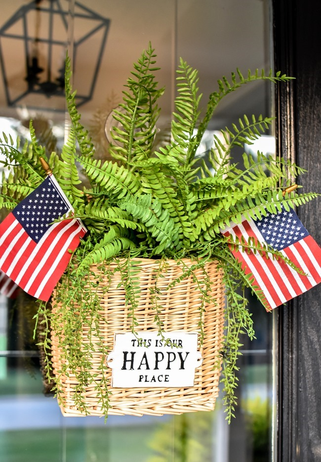 Summer Patriotic Front Door Basket-15