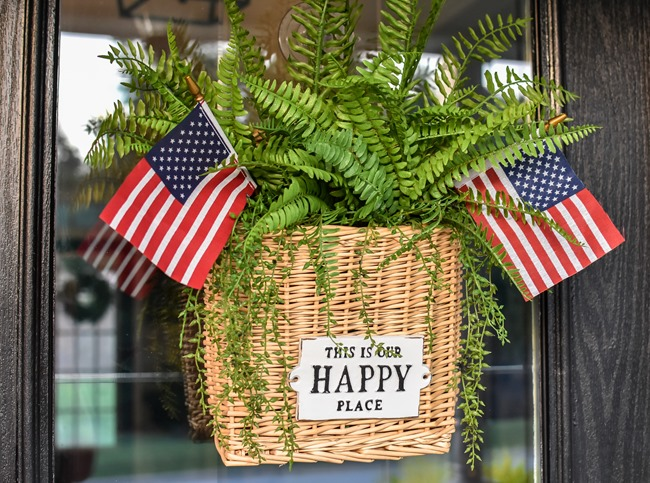 Summer Patriotic Front Door Basket-16