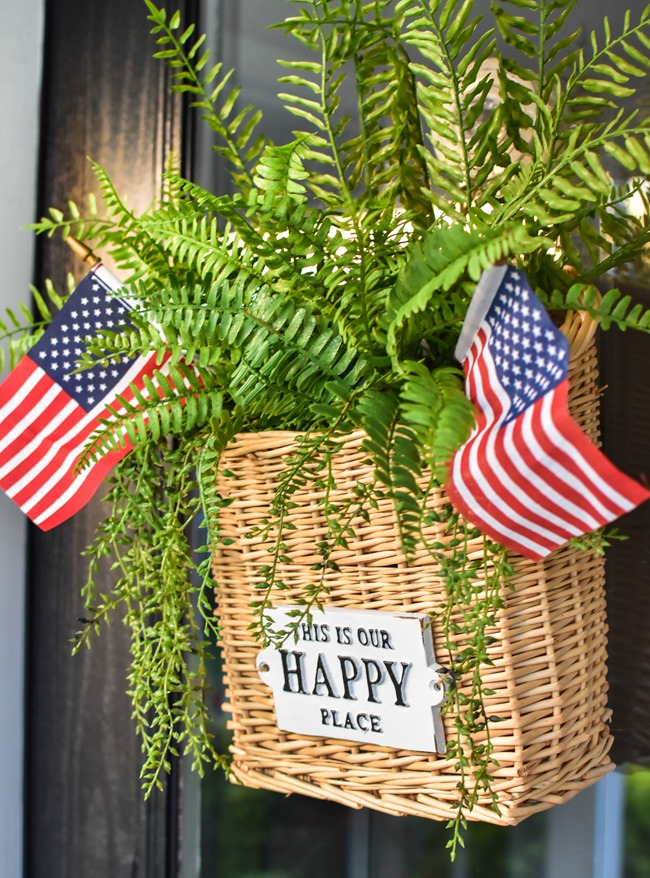 Summer Patriotic Front Door Basket-21