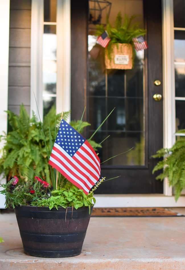 Summer Patriotic Front Door Basket-22
