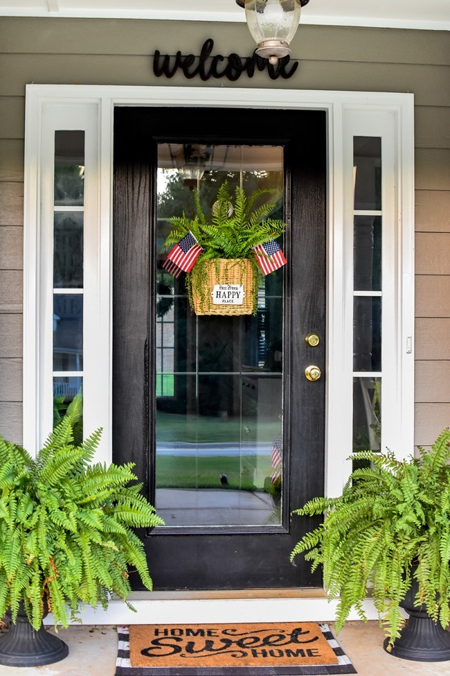 Summer Patriotic Front Door Basket-9