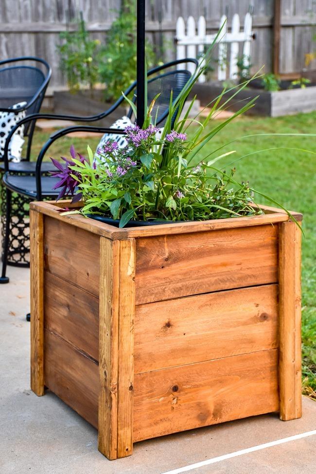 DIY Cedar Wood Planters-13