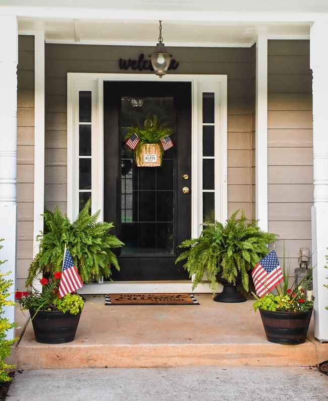 Summer Patriotic Front Door Basket-7