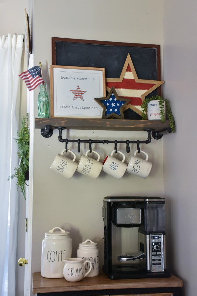 Summer Patriotic Mantel and Home Tour-14