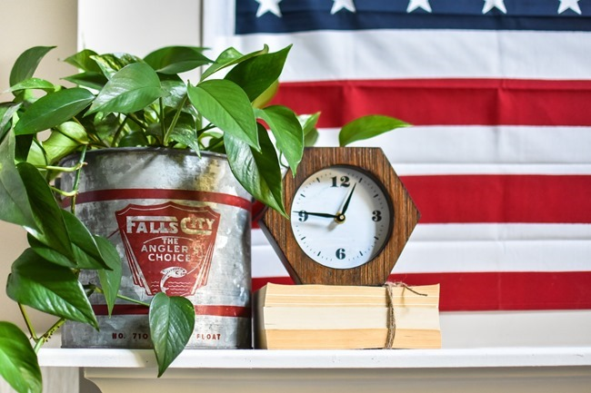 Summer Patriotic Mantel and Home Tour-25