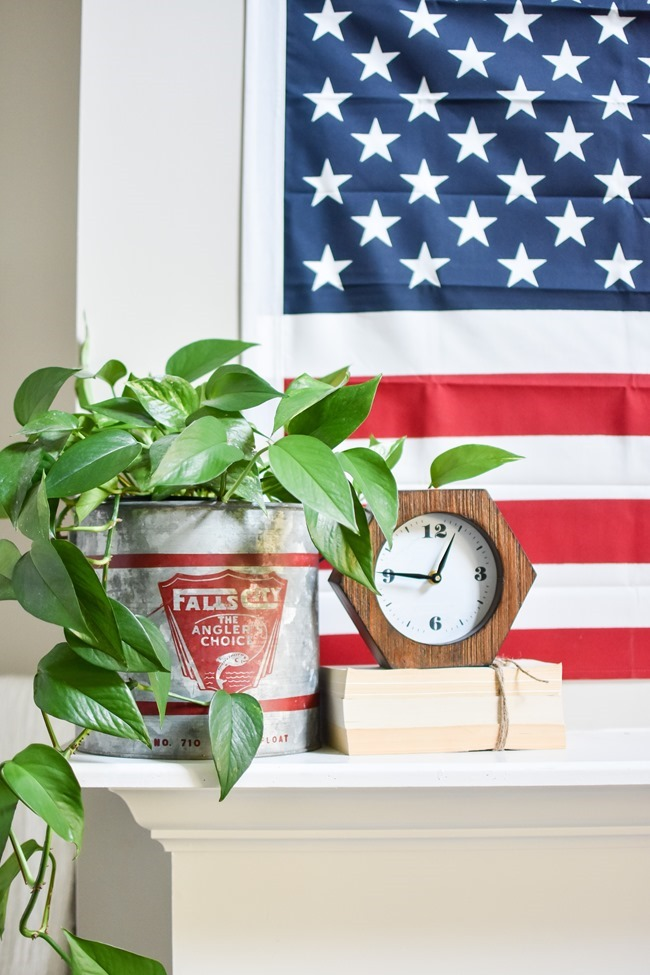 Summer Patriotic Mantel and Home Tour-28
