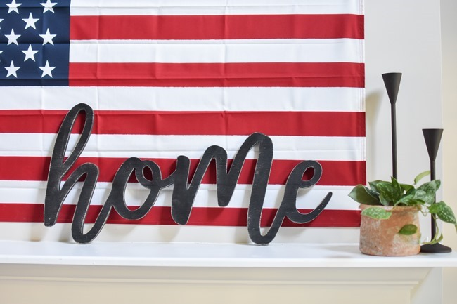 Summer Patriotic Mantel and Home Tour-29