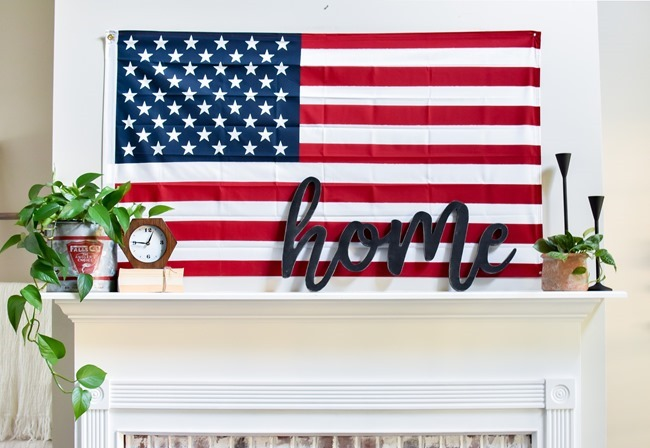Summer Patriotic Mantel and Home Tour-30
