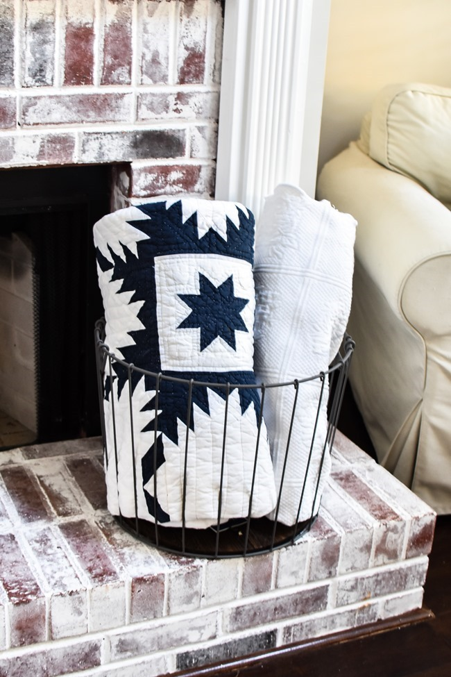 Summer Patriotic Mantel and Home Tour-31