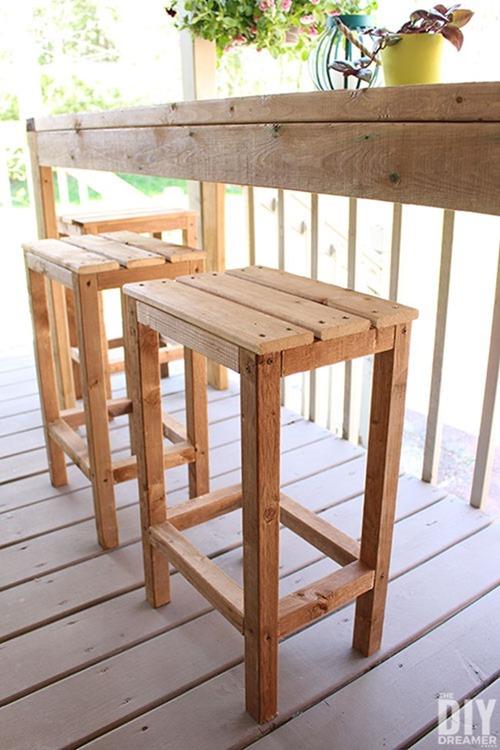 diy-wood-outdoor-stools