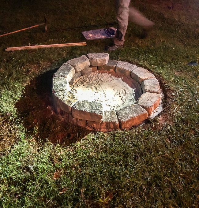 How to build a DIY firepit in your backyard-53