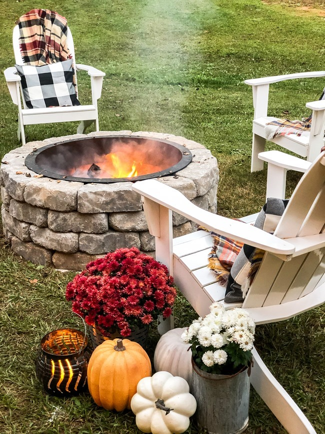 How to build a DIY firepit in your backyard-73