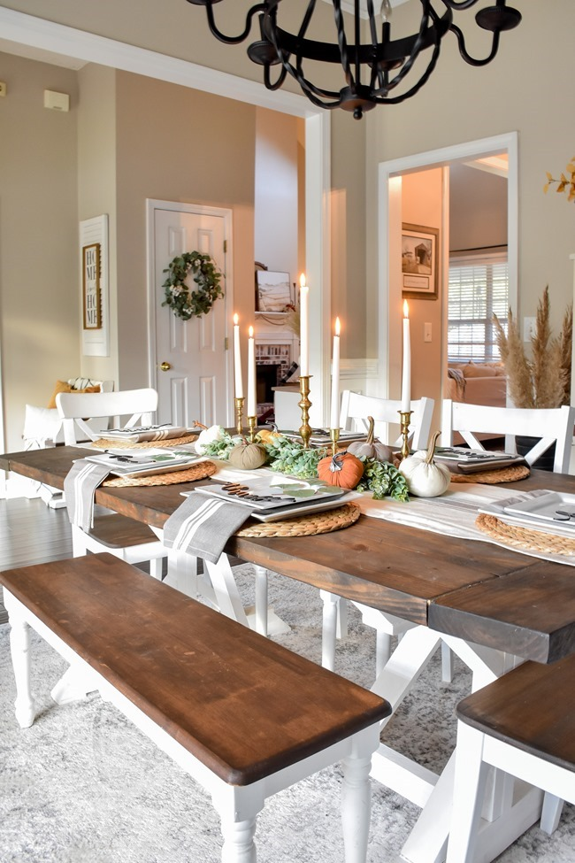 Fall dining room and thanksgiving table-4