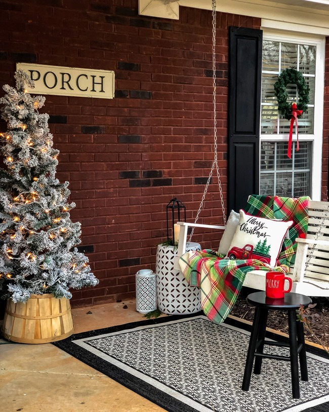 Classic Christmas front porch -53