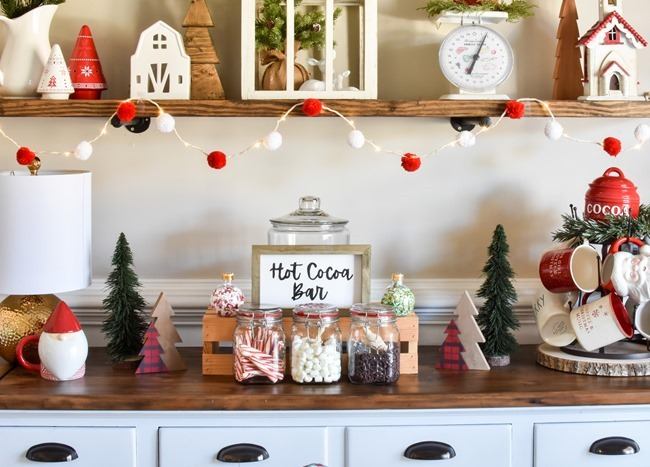 How to create an easy Hot Cocoa Bar with a DIY Hot Cocoa Bar sign-19