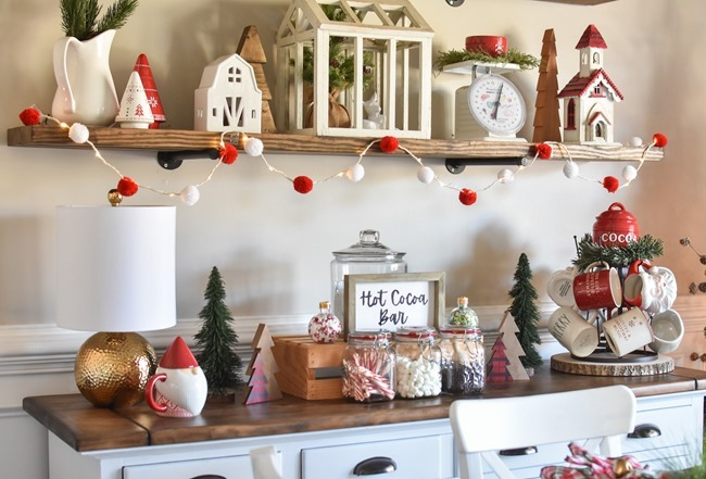 How to create an easy Hot Cocoa Bar with a DIY Hot Cocoa Bar sign-2