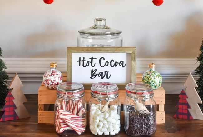 How to create an easy Hot Cocoa Bar with a DIY Hot Cocoa Bar sign-21-2