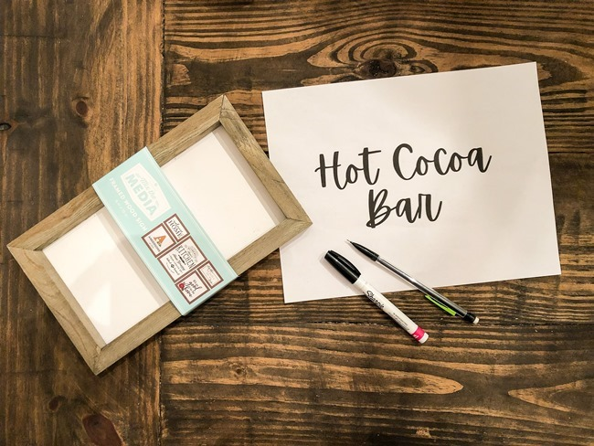 How to create an easy Hot Cocoa Bar with a DIY Hot Cocoa Bar sign-39