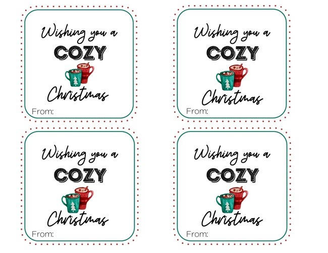 WISHING YOU A COZY TAG