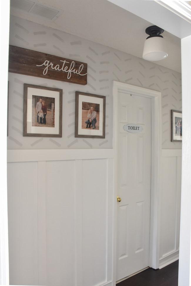 $100 room challenge hallway makeover reveal-12