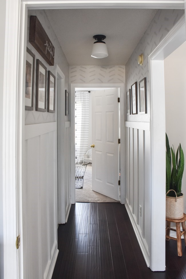 $100 room challenge hallway makeover reveal-16
