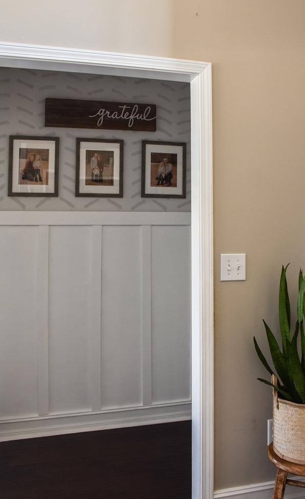 $100 room challenge hallway makeover reveal-24